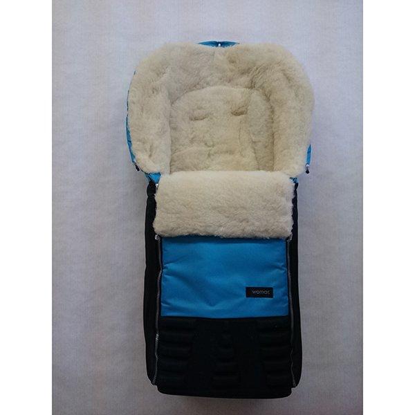 Спальный мешок в коляску №16 из серии Snowman, цвет – бирюзовыйЗимние конверты<br>Спальный мешок в коляску №16 из серии Snowman, цвет – бирюзовый<br>