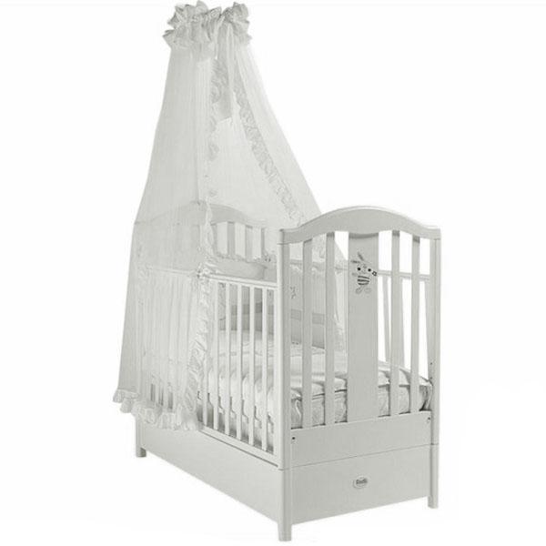 Кровать детская Fms Ricordo BiancoДетские кровати и мягкая мебель<br>Кровать детская Fms Ricordo Bianco<br>
