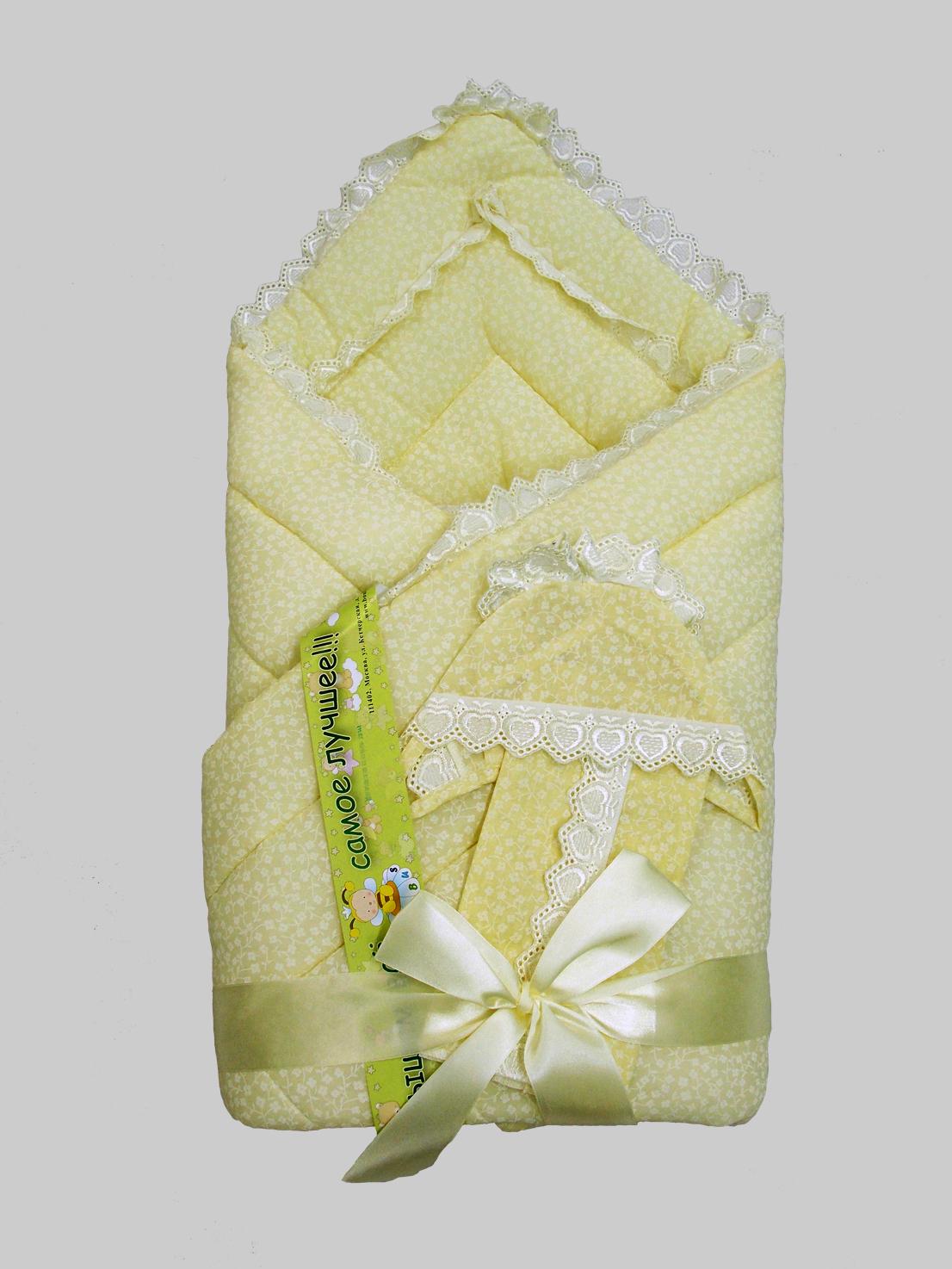 Одеяло на выписку - Фунтик, 4 предмета, бежевоеКомплекты на выписку<br>Одеяло на выписку - Фунтик, 4 предмета, бежевое<br>