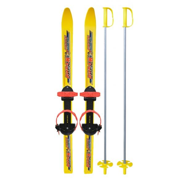 Лыжи детские Вираж-Спорт, длина лыж – 100 см., палок - 100 см, универсальное крепление ЦиклЛыжи<br>Лыжи детские Вираж-Спорт, длина лыж – 100 см., палок - 100 см, универсальное крепление Цикл<br>