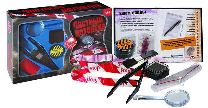 Набор - Частный детективШпионские игрушки. Наборы секретного агента<br>Набор - Частный детектив<br>