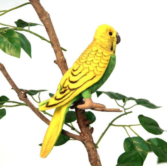 Волнистый попугайчик, зеленый, 15 смДикие животные<br>Волнистый попугайчик, зеленый, 15 см<br>