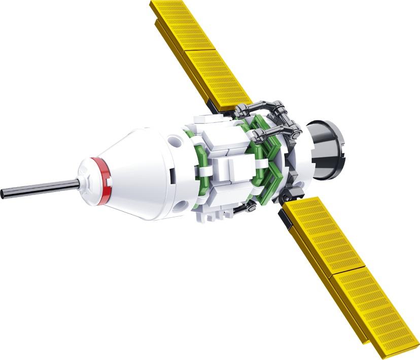 Конструктор - Космический корабль 67 деталей.