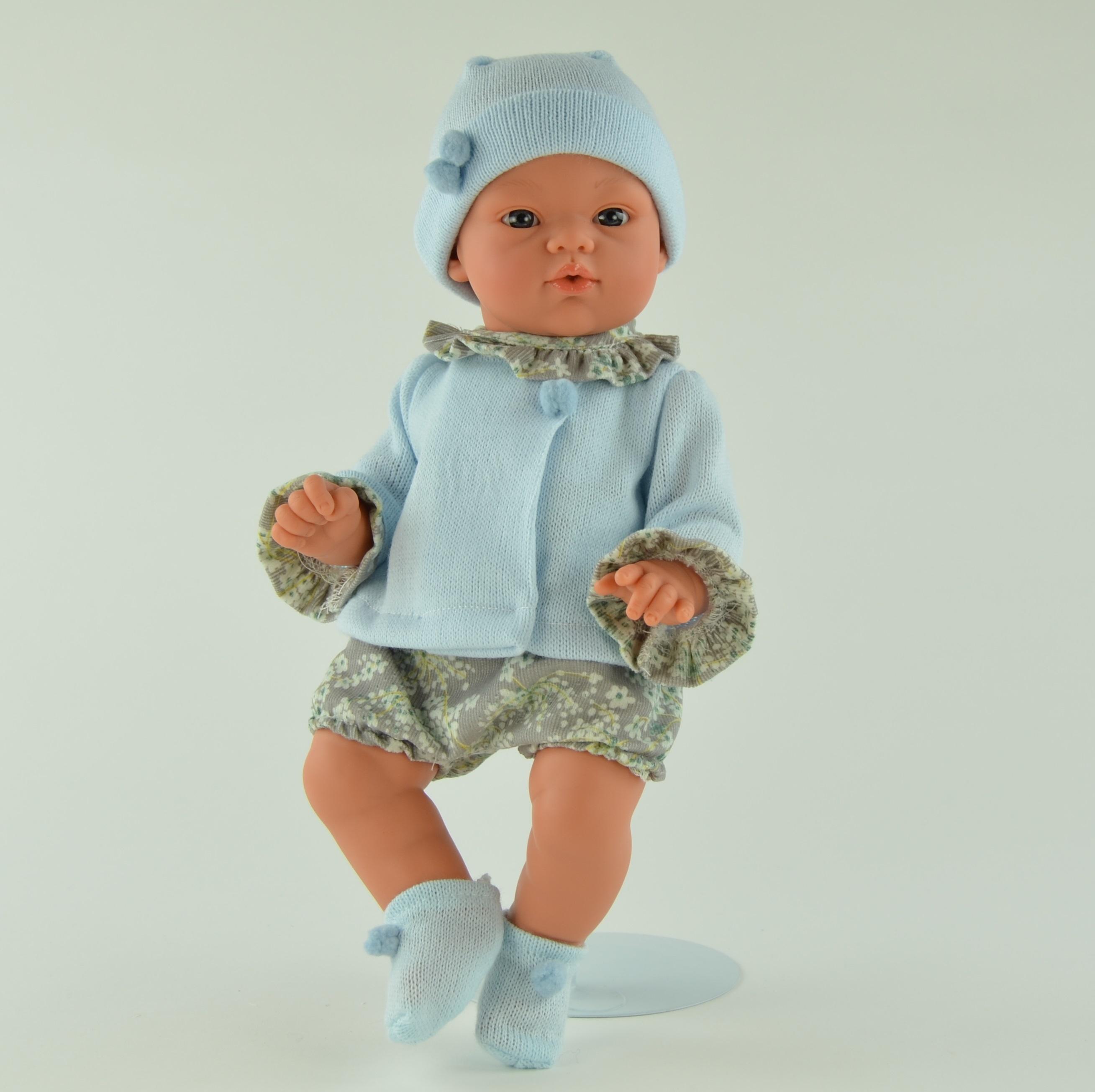 Кукла Коки в голубом костюмчике, 36 см.Куклы ASI (Испания)<br>Кукла Коки в голубом костюмчике, 36 см.<br>