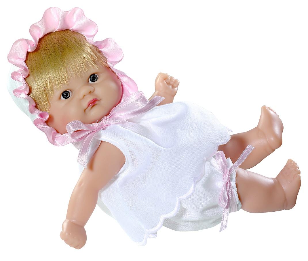 Кукла – Пупсик в чепчике, 20 смКуклы ASI (Испания)<br>Кукла – Пупсик в чепчике, 20 см<br>