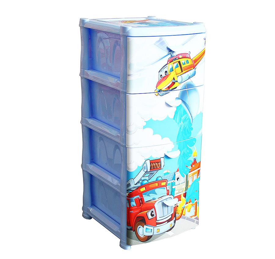Комод Альт Деко - Спасатели, 4 секцииКорзины для игрушек<br>Комод Альт Деко - Спасатели, 4 секции<br>