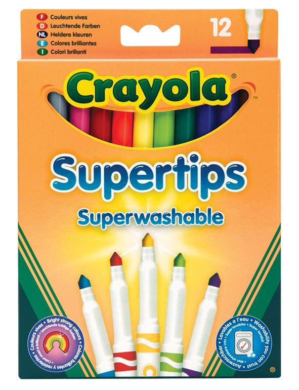 Фломастеры тонкие Супертипс, яркие цвета, 12 шт.Фломастеры<br>Фломастеры тонкие Супертипс, яркие цвета, 12 шт.<br>