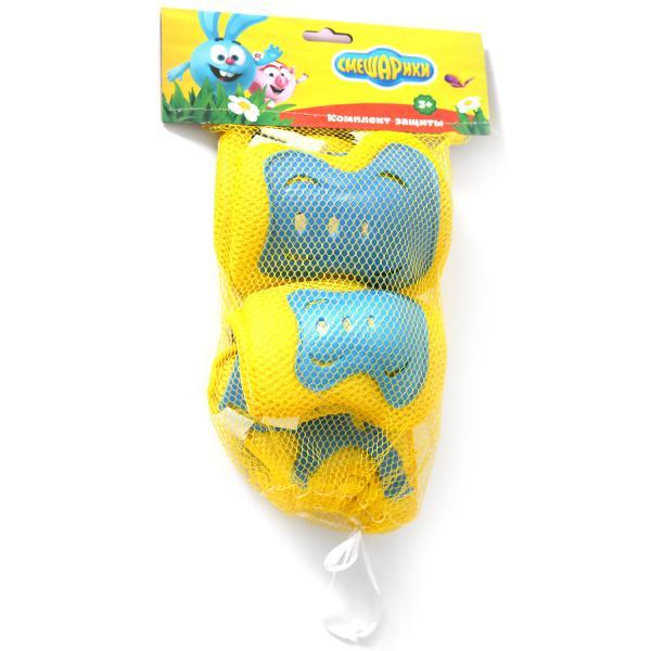 Комплект защиты для колен, локтей и запястий из серии Смешарики, в сетчатой сумке, размер S