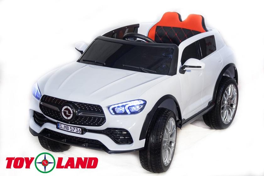 Электромобиль джип Mercedes Benz GLE купе, белый фото