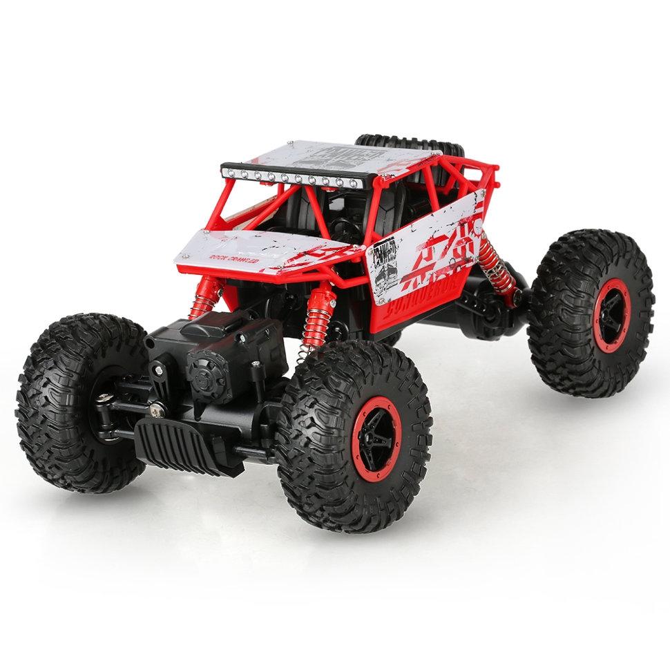 Машина на радиоуправлении - Монстр Трак, 1:18, белый/красныйМашины на р/у<br>Машина на радиоуправлении - Монстр Трак, 1:18, белый/красный<br>