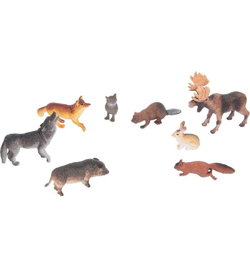 Купить Набор из 8-и животных средней полосы, Играем вместе