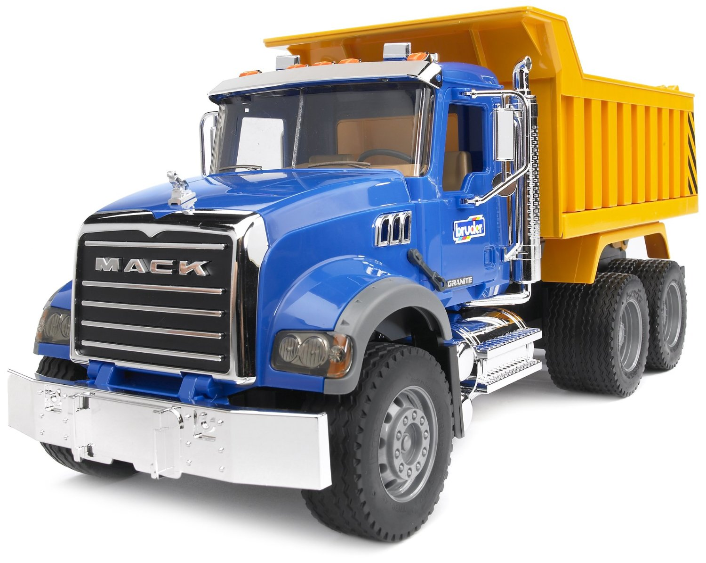 Игрушечный самосвал Mack Granite Dump TruckГрузовики, самосвалы, лесовозы<br>Большой игрушечный Самосвал N MACK Granite Truck от компании Bruder предназначен для малышей с 3-х лет...<br>