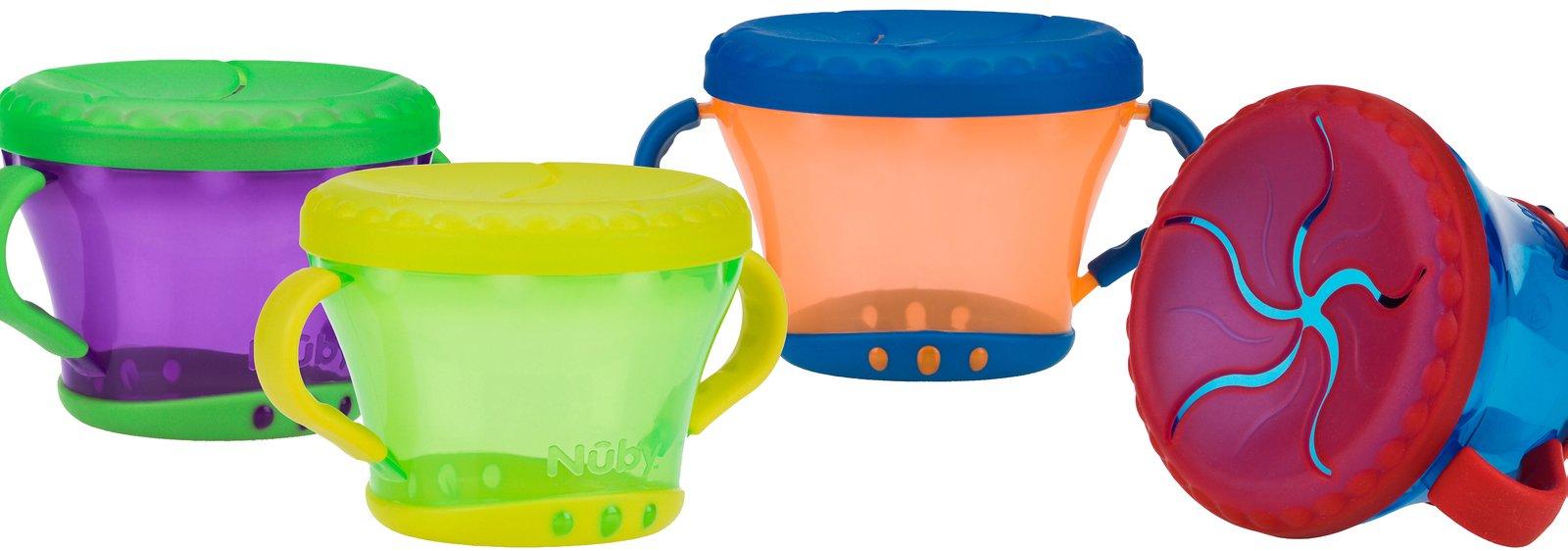 Снековая чашка для твердых продуктов. 4 цвета фото