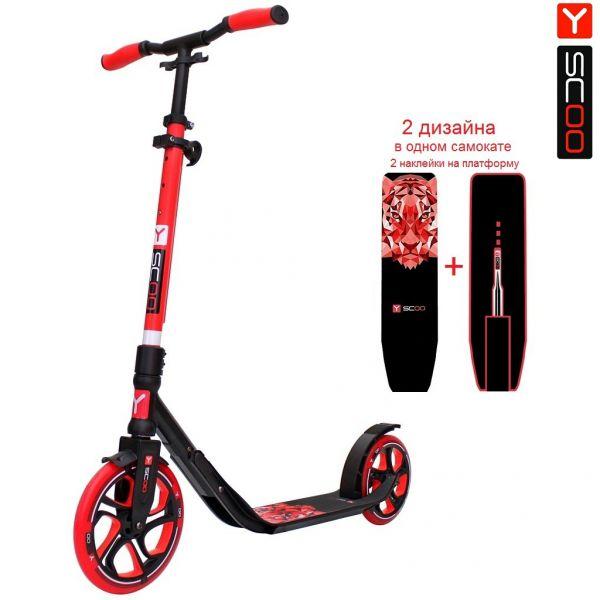 Купить Самокат Y-Scoo RT 215 One&One, red, 2 дизайна в 1 самокате