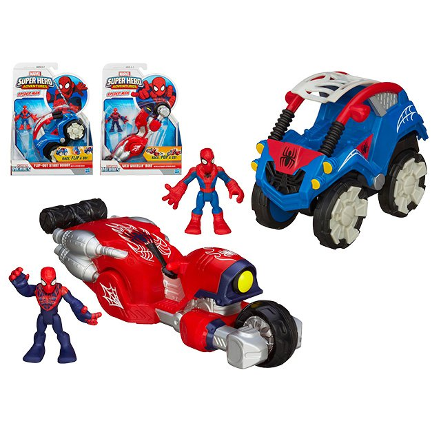 Фигурка и транспортное средство Playskool HeroesSpider-Man (Игрушки Человек Паук)<br>Фигурка и транспортное средство Playskool Heroes<br>