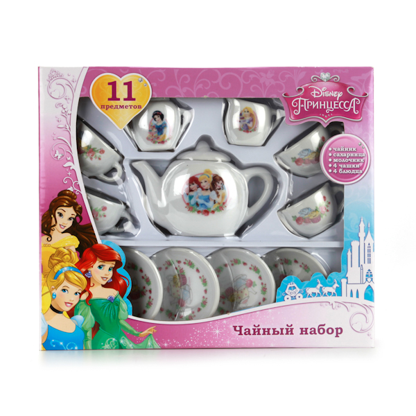 Набор посуды «Принцессы», керамика, 11 предметов Играем вместе