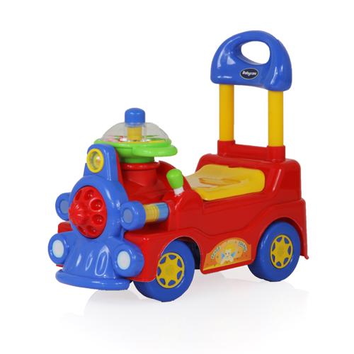 Baby Care Детская красная каталка со звуковым эффектом Train