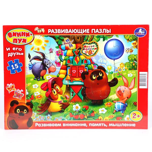 Развивающие пазлы в рамке «Винни-Пух и его друзья»Пазлы для малышей<br>Развивающие пазлы в рамке «Винни-Пух и его друзья»<br>