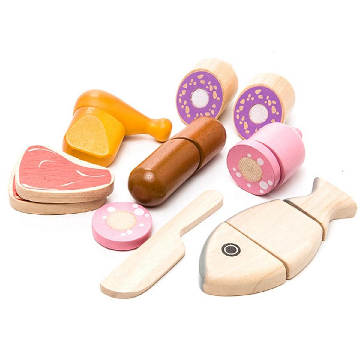 Купить Игровой набор – Мясо, из дерева, Plan Toys