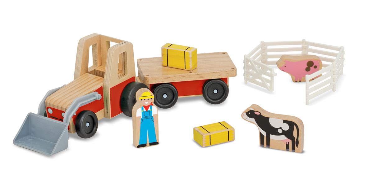 Фермерский трактор с фигурками из серии Классические игрушкиПаровозики и машинки<br>Фермерский трактор с фигурками из серии Классические игрушки<br>