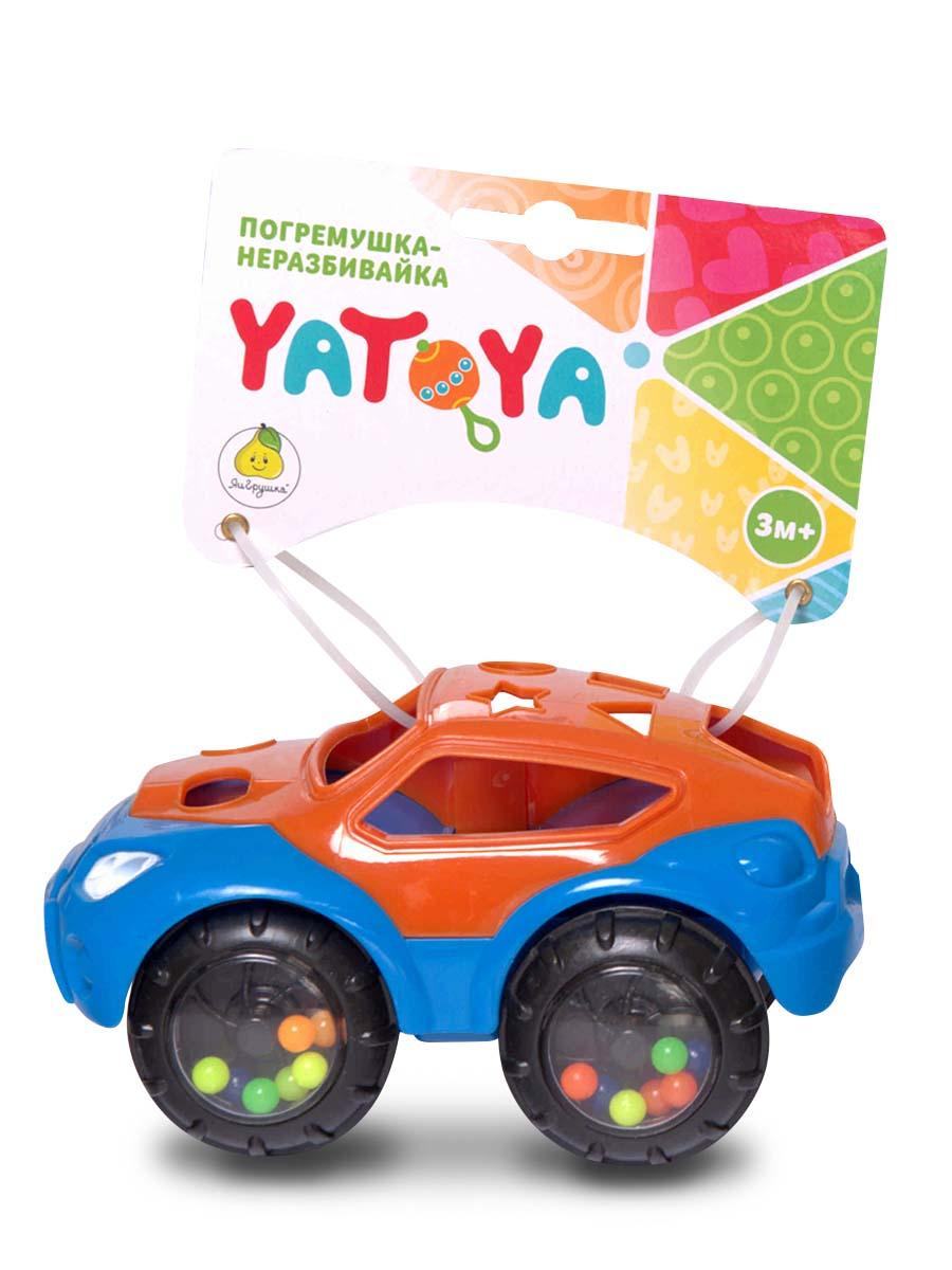 Купить со скидкой Машинка-неразбивайка оранжево-синяя