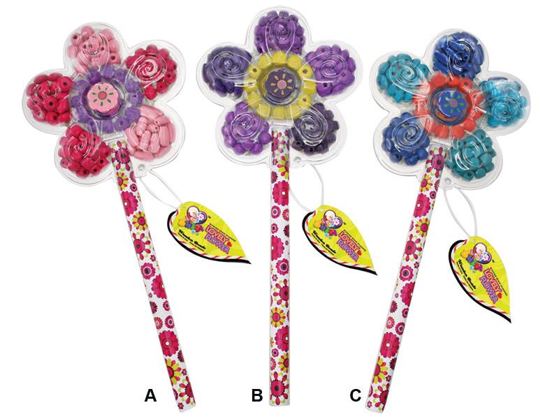 Набор для творчества Цветок: деревянные бусины, 3 вида