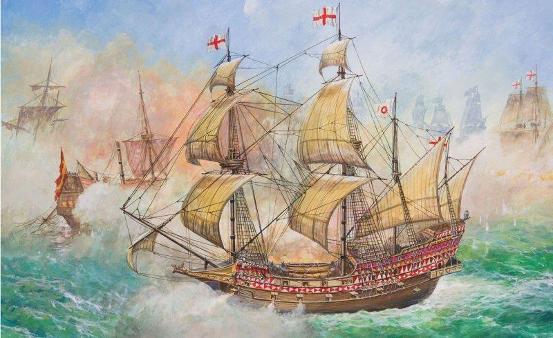Модель для сборки - Флагманский корабль Френсиса Дрейка РевенджМодели кораблей для склеивания<br>Модель для сборки - Флагманский корабль Френсиса Дрейка Ревендж<br>