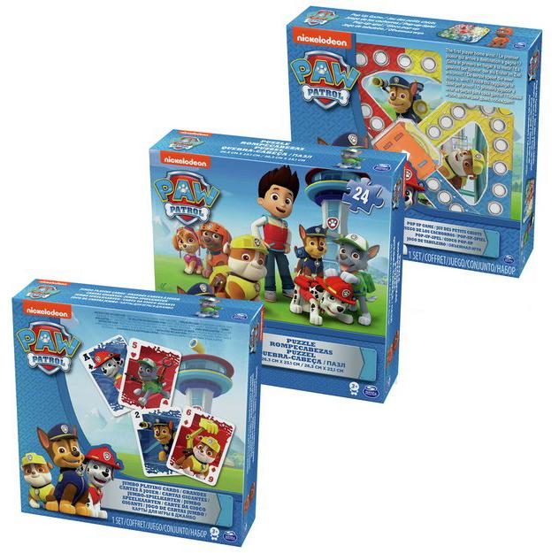 Игровой набор 3-в-1  игра с кубиком и фишками + пазл + игровые карты Щенячий Патруль - Щенячий патруль (Paw Patrol), артикул: 159868