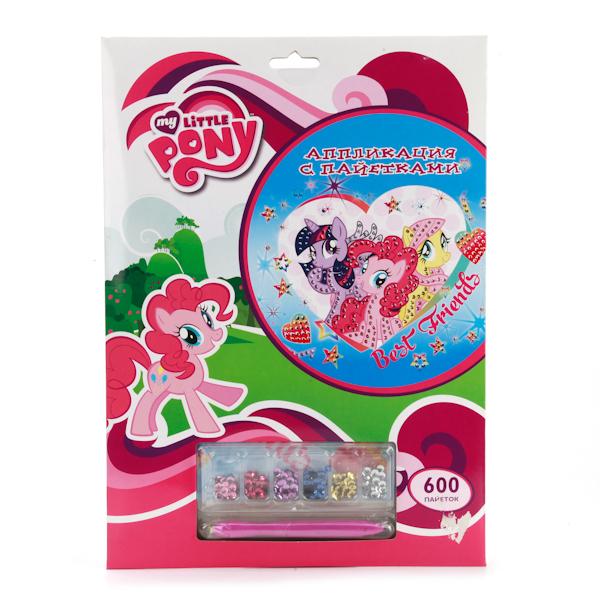 Набор для творчества - Аппликация из пайеток - My Little PonyМоя маленькая пони (My Little Pony)<br>Набор для творчества - Аппликация из пайеток - My Little Pony<br>