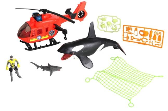 Купить Игровой набор - Касатка с вертолетом, Chap Mei