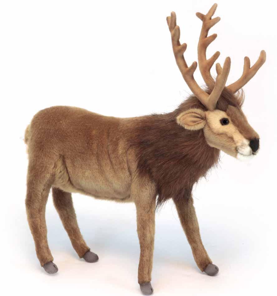 Мягкая игрушка – Северный олень, коричневый, 35 см