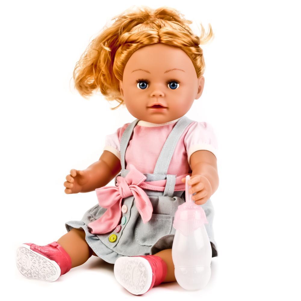 Интерактивная кукла с аксессуарами, 43 см, пьет, писает, звук  - купить со скидкой