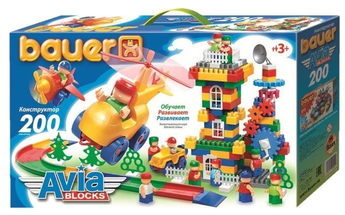 Конструктор «Авиа», 200 элементов - Конструкторы Bauer Кроха (для малышей), артикул: 127392