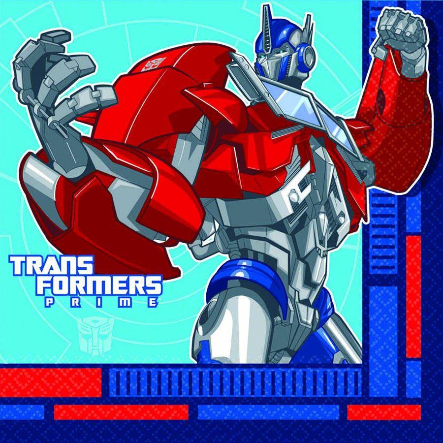 Салфетка - Трансформеры 33 см, 16 штукИгрушки трансформеры<br>Салфетка - Трансформеры 33 см, 16 штук<br>