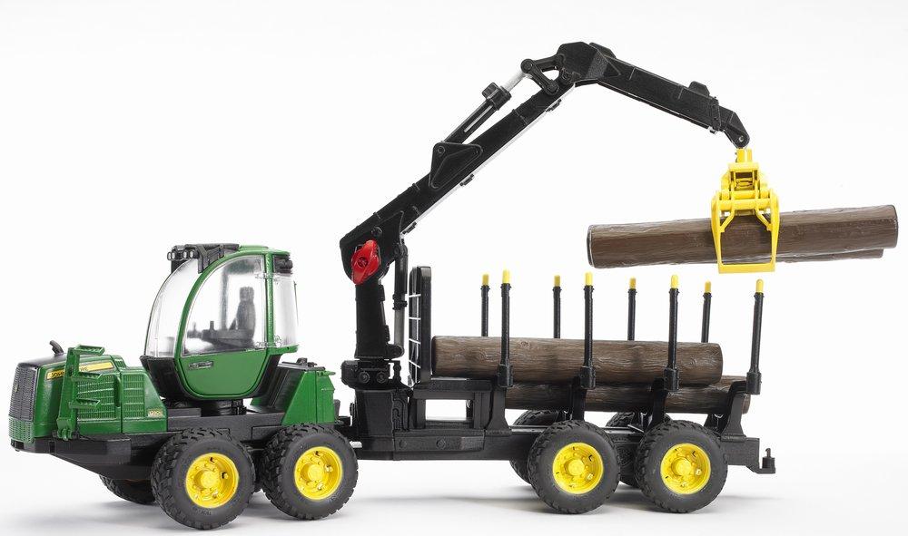 Трактор John Deere 1210E с прицепом с манипулятором и брёвнамиИгрушечные тракторы<br>Трактор John Deere 1210E с прицепом с манипулятором и брёвнами<br>