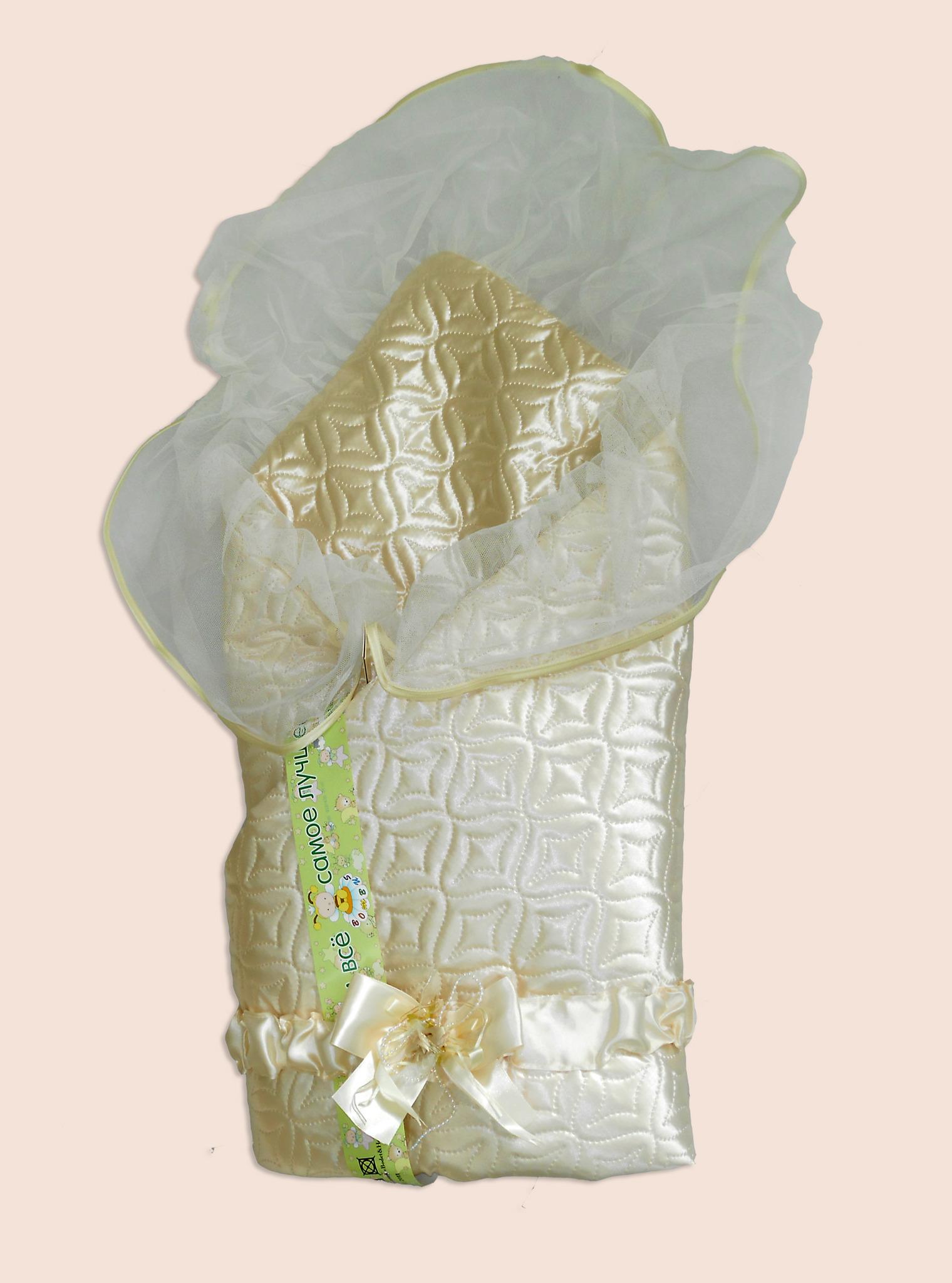 Одеяло на выписку – Мила, бежевоеКомплекты на выписку<br>Одеяло на выписку – Мила, бежевое<br>