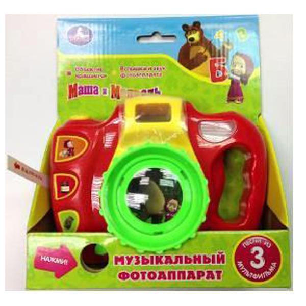 Музыкальный фотоаппарат «Маша и медведь», песни и свет - Маша и медведь игрушки, артикул: 129790