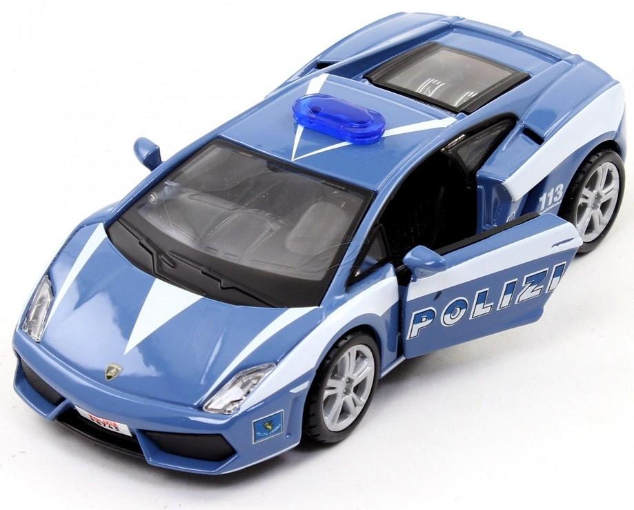 Машина Lamborghini Gallardo LP560 Полиция, металлическая, масштаб 1:32 - Машины, артикул: 95373