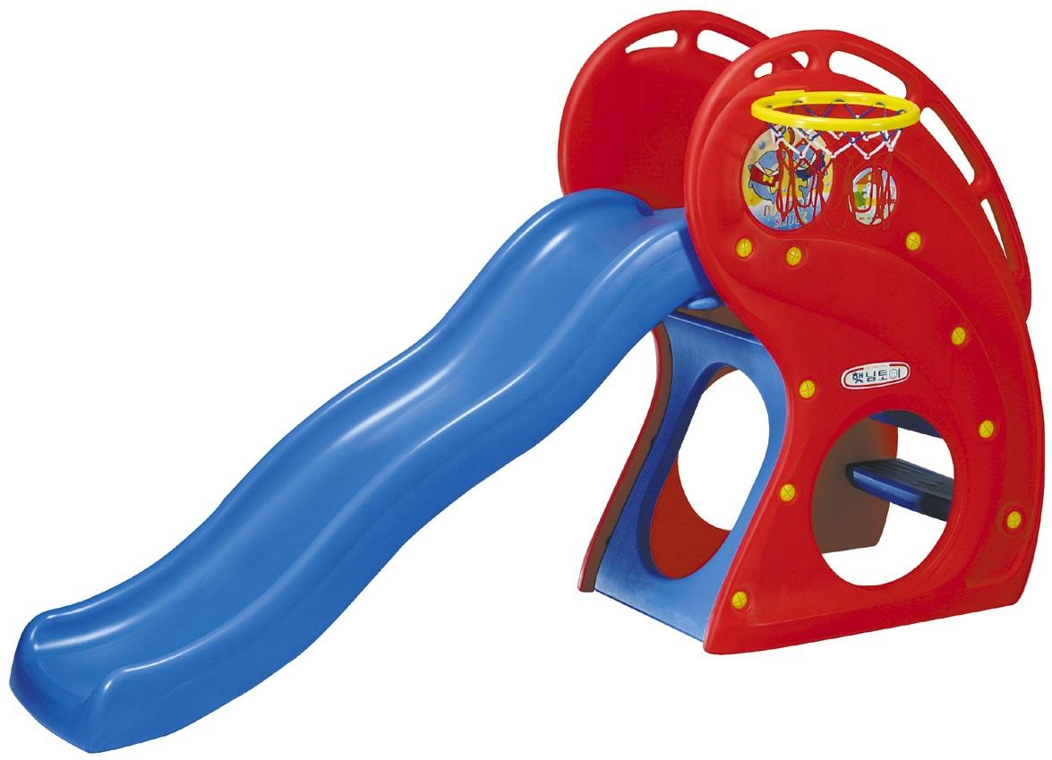 Горка Дельфин с баскетбольным кольцом - Детские игровые горки, артикул: 161484