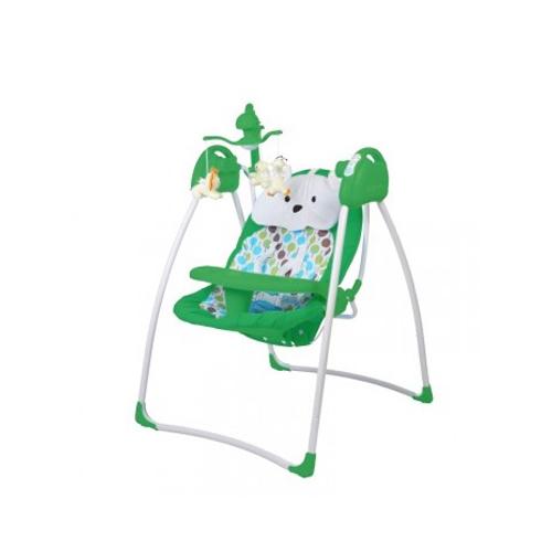 Электрокачели Baby Care Butterfly с адаптером, зеленые - Детские Кресла-качалки, шезлонги, артикул: 166219