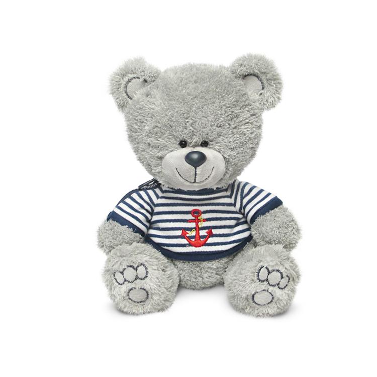 Мягкая игрушка - Медвежонок Ники в футболке с машинкой, музыкальный, 21,5 смМедведи<br>Мягкая игрушка - Медвежонок Ники в футболке с машинкой, музыкальный, 21,5 см<br>