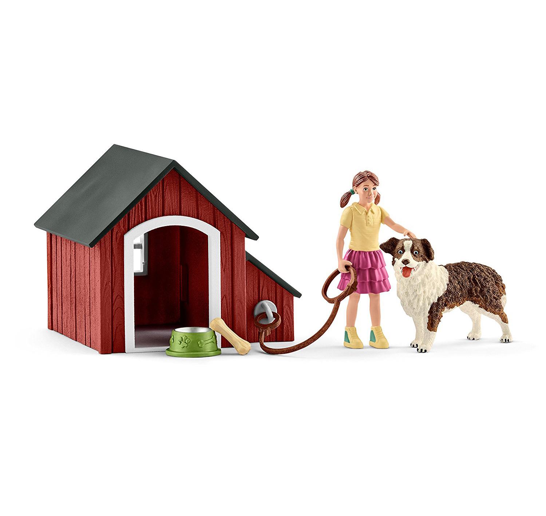 Купить Набор - Мои первые животные на ферме - Девочка. Собака. Будка с аксессуарами, Schleich