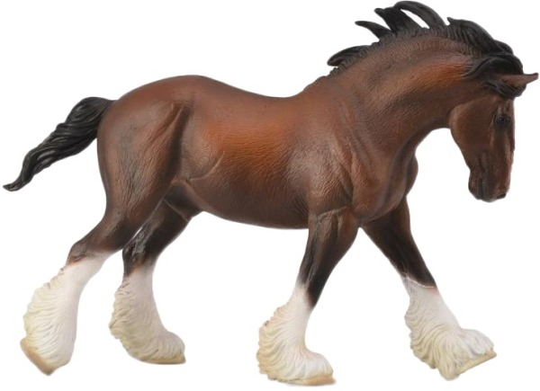 Фигурка Gulliver Collecta - Клейдесдальский тяжеловоз, размер XLЛошади (Horse)<br>Фигурка Gulliver Collecta - Клейдесдальский тяжеловоз, размер XL<br>