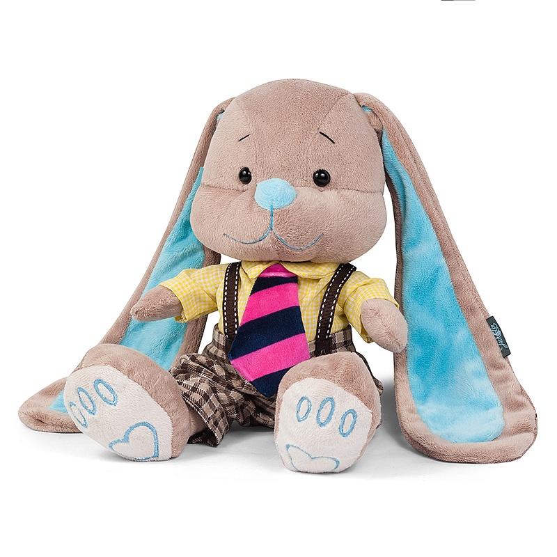 Мягкая игрушка - Стиляги - Зайчик Жак в полосатом галстуке, 25 смЗайки Жак и Лин (Jack&amp;Lin)<br>Мягкая игрушка - Стиляги - Зайчик Жак в полосатом галстуке, 25 см<br>