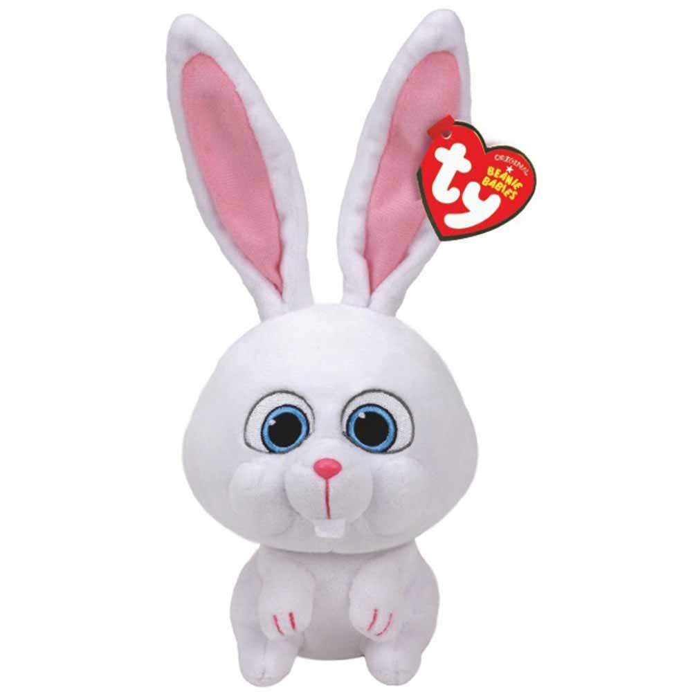 TY Мягкая игрушка - Тайная жизнь домашних животных - кролик Снежок