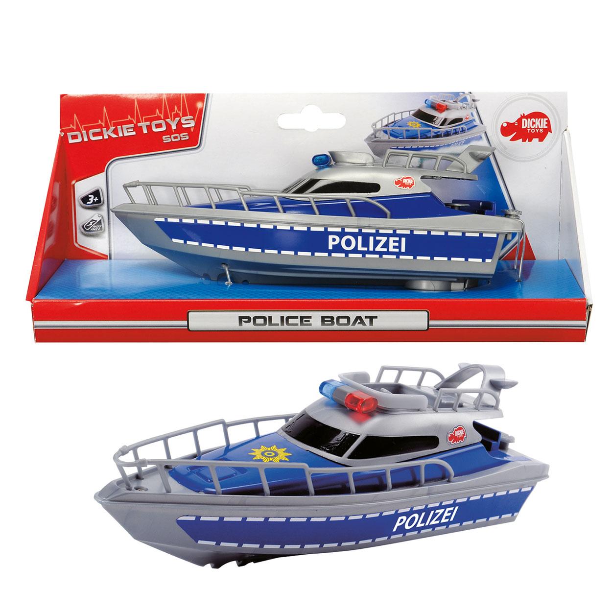 Полицейская лодка на батарейках, 23 смИгрушки для ванной<br>Полицейская лодка на батарейках, 23 см<br>