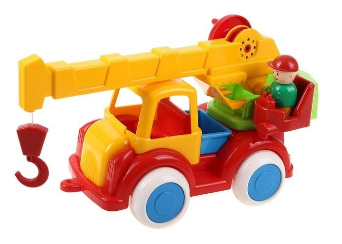 Автокран - Детский сад, 35 смМашинки для малышей<br>Автокран - Детский сад, 35 см<br>