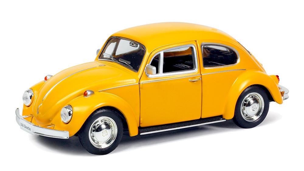 Металлическая инерционная машина RMZ City - Volkswagen Beetle 1967, 1:32, желтый матовыйVolkswagen<br>Металлическая инерционная машина RMZ City - Volkswagen Beetle 1967, 1:32, желтый матовый<br>