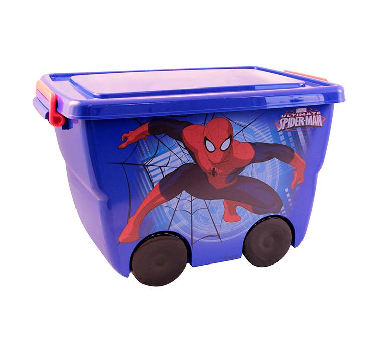Ящик для игрушек - Человек-Паук, синийКорзины для игрушек<br>Ящик для игрушек - Человек-Паук, синий<br>
