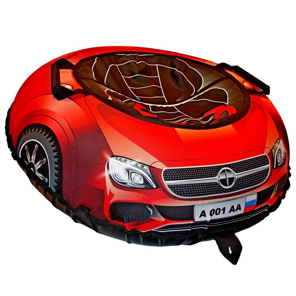 Санки надувные – Тюбинг Эксклюзив Super Car Mercedes, красный, 100 см